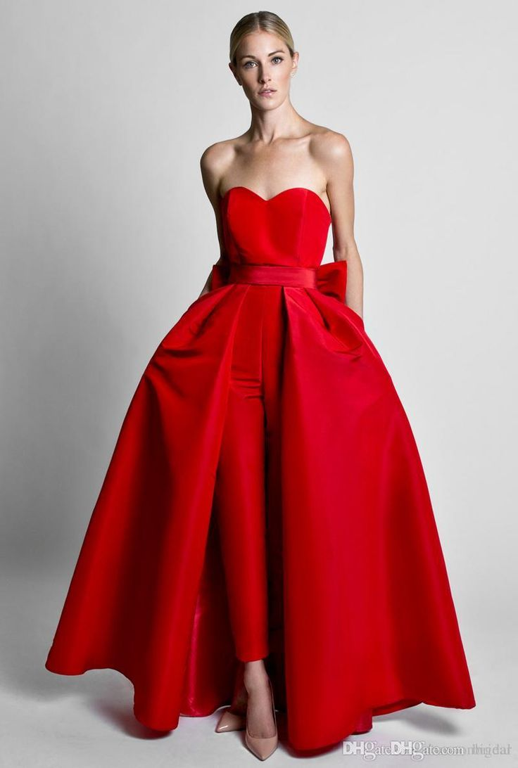 Sleeveless Convertible Prom Dress Jumpsuit with Back Bow Formal Occaison Dress with Attachable Skirt 2018 from bigear, $100.51 | DHgate Mobile
