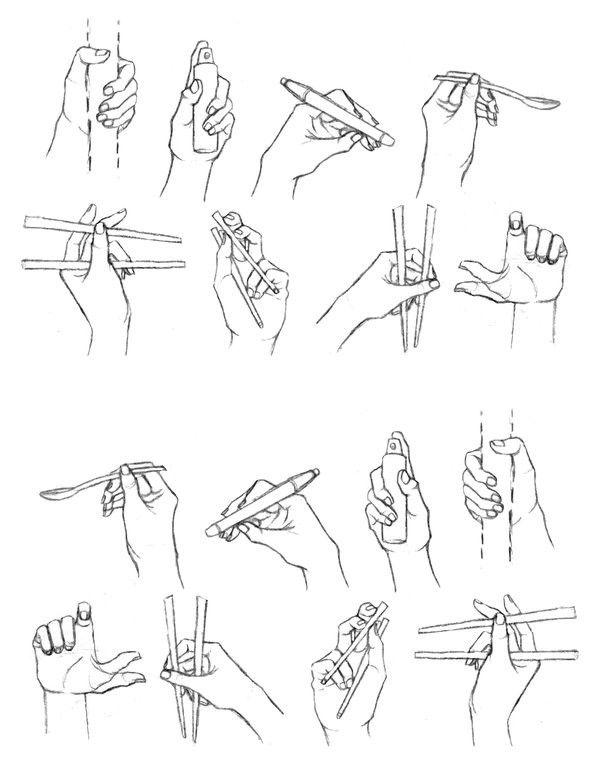 Esboço mãos