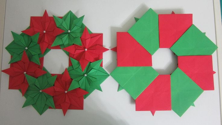 Here's a simple way to make a decorative christmas wreath using 8 pieces of square paper. In this tutorial, I cut a square by using the width of an A4 size p...