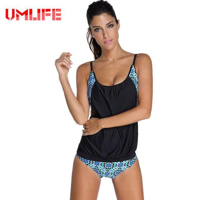 Bikini Mayo Striped Tankinis Set Top Women Tank Push Up Sport 2 Piece Bathing Suits Plus Size Thong Swimwear Sexy Swimsuits
