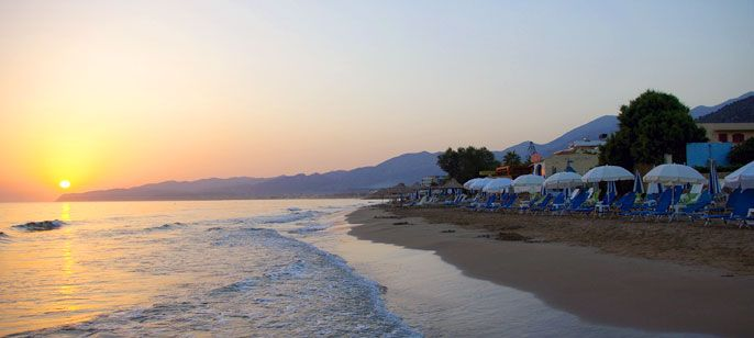 The long sandy beach of Stalis #beach #crete #greece #summer #sunset