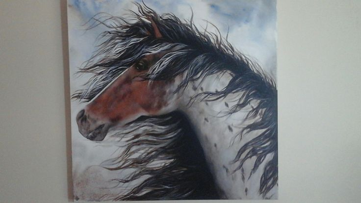 'Wild' acrylic painting    Cathcurrie.etsy.com