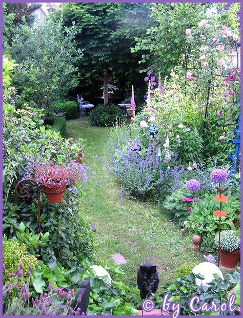 kleine tuin, gezellig, bloemen borders