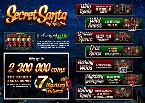 December 2013 - New Slot Game - Secret Santa Video Slot - Microgamming Casinos