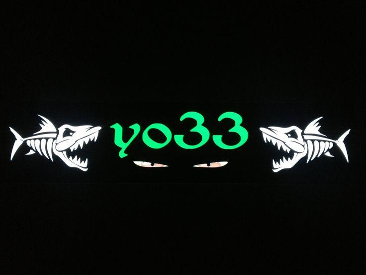 Plaque prénom camion Yo33