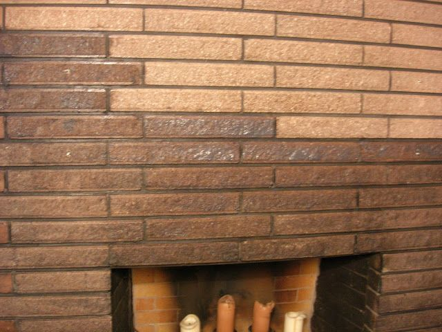 Use Masonry Stain To Un Pink The Fireplace Bricks. Clean With Masonry  Cleaner A