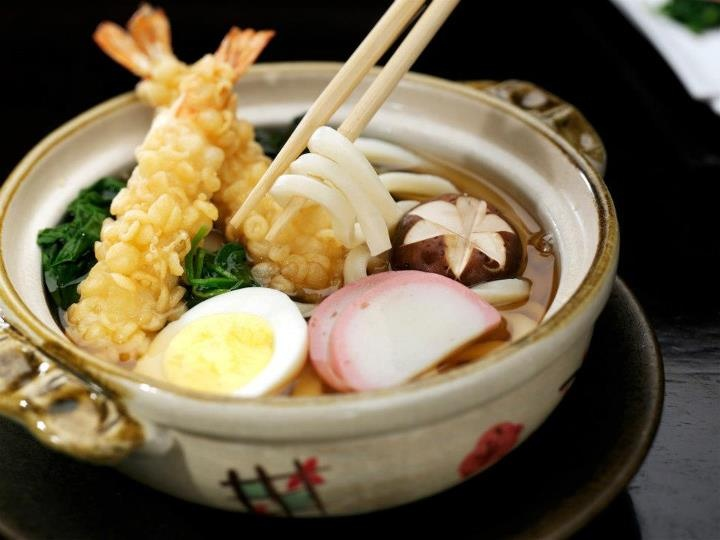 The perfect bowl of Nabeyaki Udon Soup, by Chef Masa Shimakawa at @Mandy Dewey Seasons Hotel Bangkok.