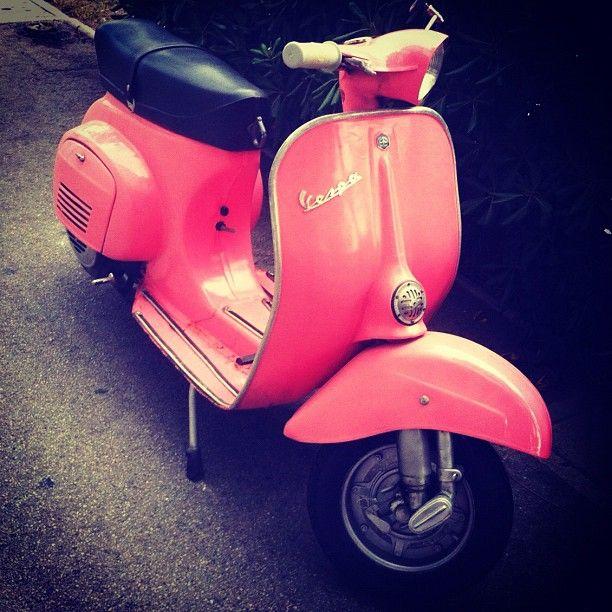 Pink Vespa! I want one! - Instagram by @scottishemma123