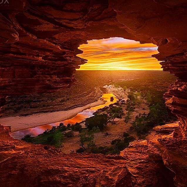 Parque nacional de Kalbarri, Australia-Occidental, Australia #australia #Kalbarri #puestadesol http://www.pandabuzz.com/es/imagen-ensueno-del-dia/parque-kalbarri-australia-occidental