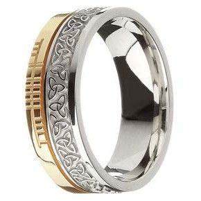 Faith Ogham Band By Boru Jewelry Bearing Ancient Irish Script