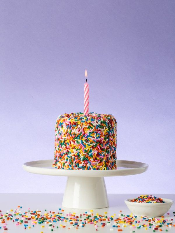 Funfetti cake for two - great recipe for a smash cake for a first birthday party, or just to have on a regular day!