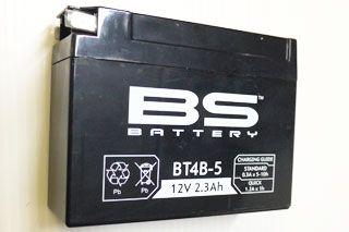 5500円【BS】BT-4B-5ミニMFバッテリー  メーカー保証1年間 FT4B-5/GT4B-5/RBT4B-5/PS4B-BSに互換性有り BS社はフランスのバッテリーメーカーでMVアグスタに純正採用されているメーカーです