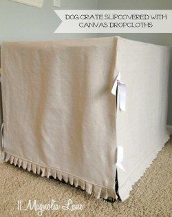 dog crate slipcover canvas dropcloths