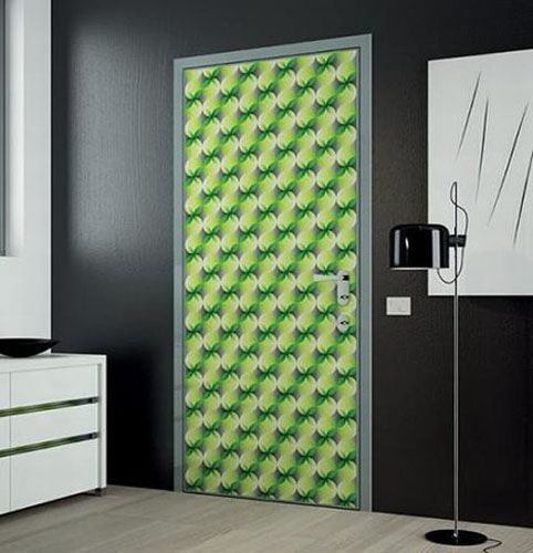 Modern interior door decoration with green painting or wallpaper | Karim Rashid.