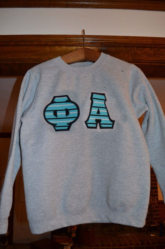 Sorority or Fraternity Letters Sweatshirt by GreekBoutique on Etsy, $22.00