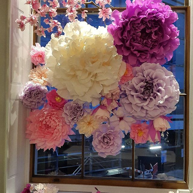 The 235 best all things floral images on pinterest paper flowers tissue paper flowers in front of window hiding construction site mightylinksfo