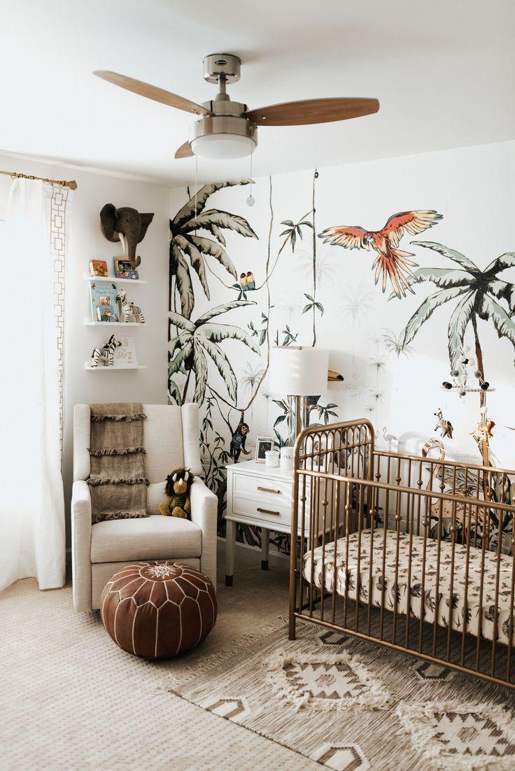 Jungle Themed Gender Neutral Nursery In 2020 Nursery Baby Room