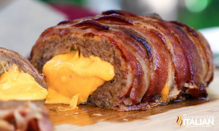 "<p>If a steak-flavored meatloaf doesn't already make your mouth water, stuffing it with cheese and covering it with bacon certainly will. Get this <a href=""http://www.theslowroasteditalian.com/2014/04/bacon-double-cheeseburger-stuffed-meatloaf-recipe.html"">Bacon Double Cheeseburger Stuffed Meatloaf</a> recipe!</p>"