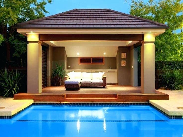 Inground Pool And Patio Designs Pool Gazebo Pool Cabana Pool