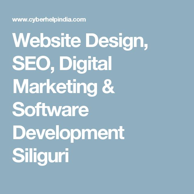 Website Design, SEO, Digital Marketing & Software Development Siliguri