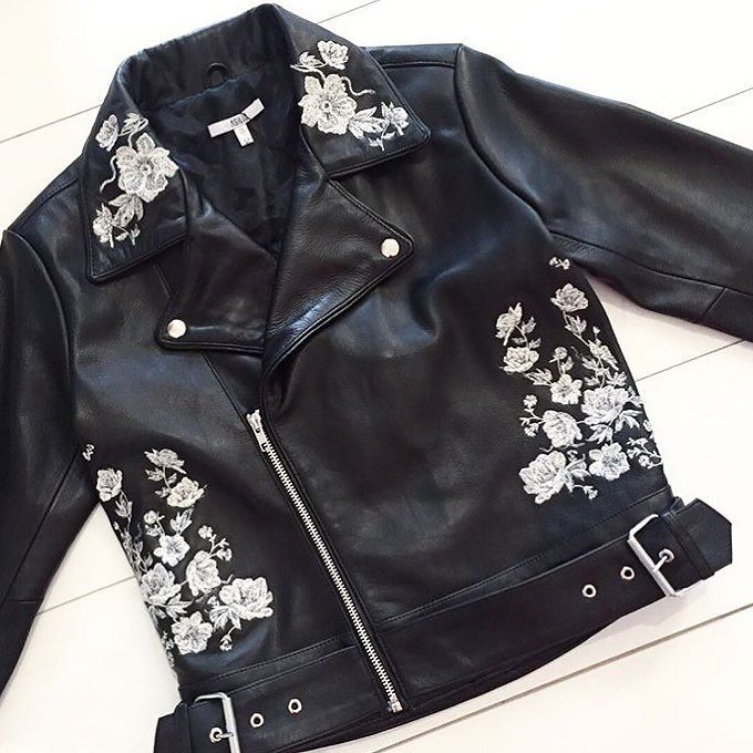 The MUST HAVE leather jacket of the season but ours has a little twist...  Check out the back online... RG via @maplemayboutique  #asilio #asiliothelabel #lookbookboutique #lookbook #leather #leatherjacket #embroidery #fashionblog #fashionista #newarrivals #bikerjacket #flatlay #fashion #fashionista
