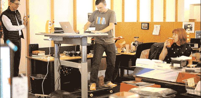 Skateboarding at a treadmill desk - I Was Quite Surprised by Some Things on This LifeSpan Treadmill Desk | Gadget Lab | Wired.com