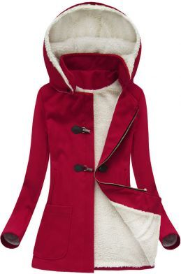 Dámsky kabát 70art červený M