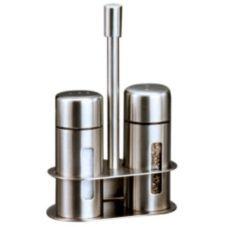 American Metalcraft Round S/S Salt And Pepper Shaker Set w/ Base