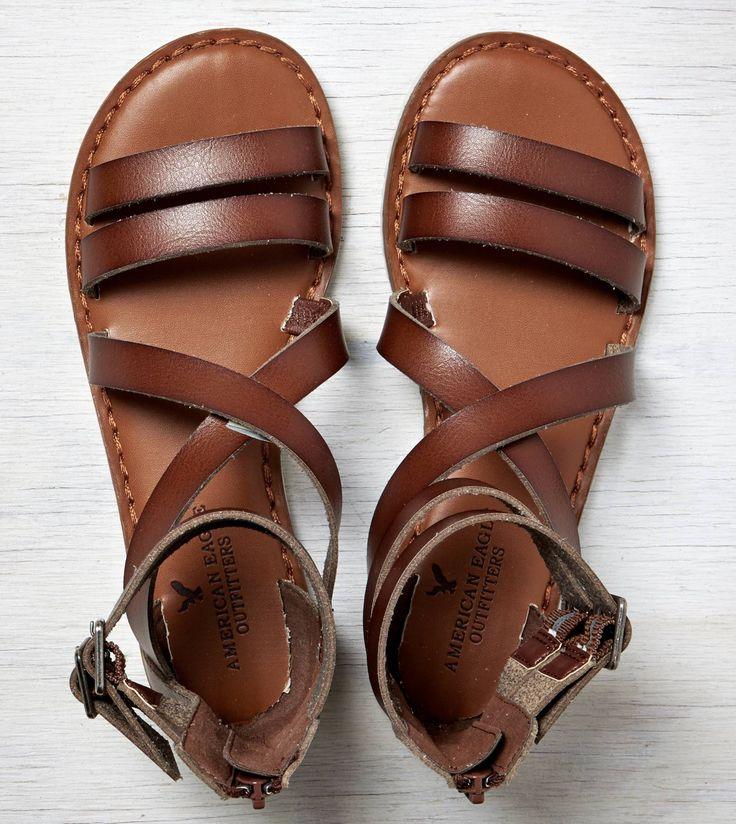 Medium Brown AEO Buckled Gladiator Sandal $34.95