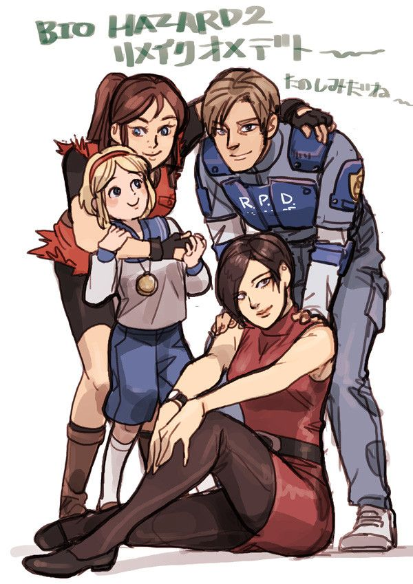 Resident Evil 2 Claire Redfied Leon Kennedy Ada Wong And Sherry Birkin Resident Evil Girl Resident Evil Anime Resident Evil Leon