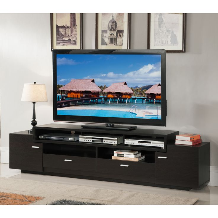 Available In Two Finishes, This TV Stand Is A Sure Fit For Any Living  Space. The Spacious Shelving Compartments And Convenient Cabinet And  Drawers Pair ... Part 93