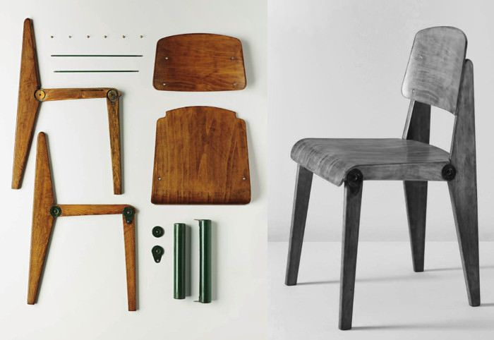 histoire de design chaise m tropole n 305 jean prouv 1934 design chairs and the chair. Black Bedroom Furniture Sets. Home Design Ideas