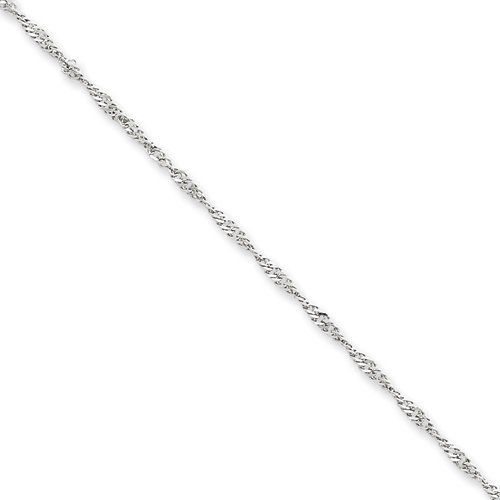 10 Inch 14k White Gold 1.9mm Singapore Chain Gold Collection. $139.60. Save 36% Off!