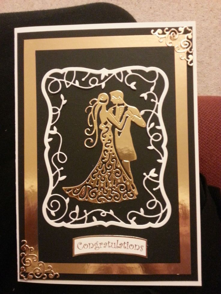 Tattered lace wedding die card