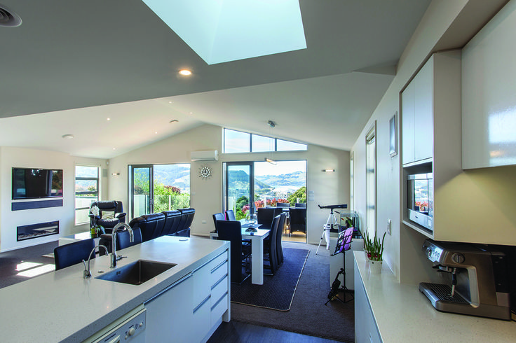 A shining kitchen designed by Will Lewis from Lewis Architecture #ADNZ #architecture #kitchen