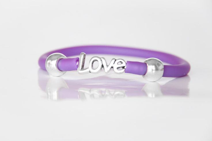 Love Bracelet with Purple Tube Strap - Teelee - A Bits & Bobs Brand