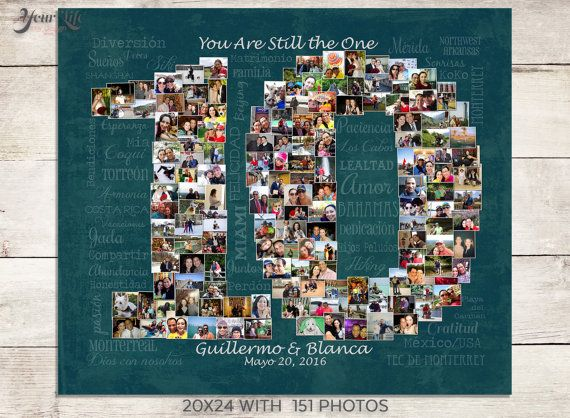 10th Wedding Anniversary Gift Birthday Decoration For Wife Women Photo Collage
