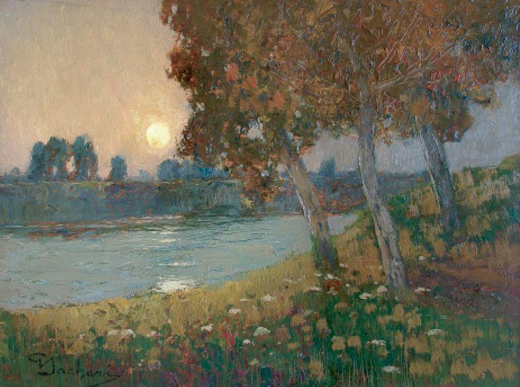Levar di luna sul fiume
