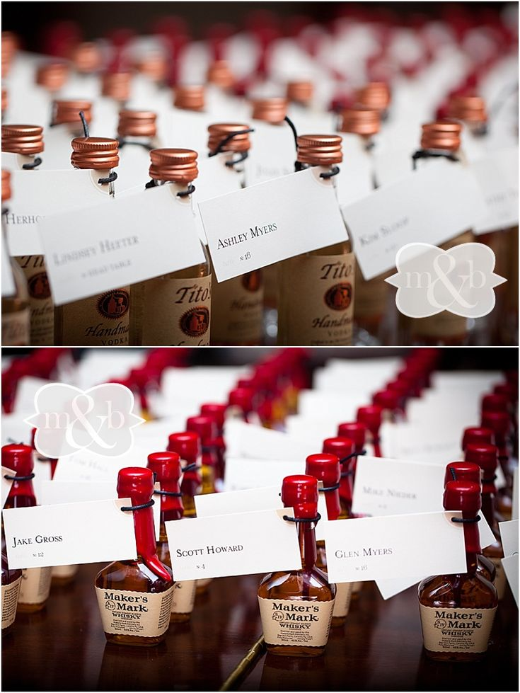 Cute idea for wedding favors. Maybe Tequila for Mexican reception.