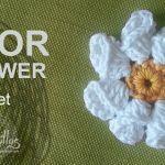 Tutorial Flor Crochet o Ganchillo