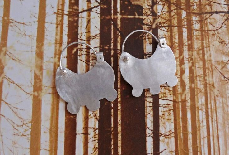 Ancestral earrings, silver 959, handmade, culture Mapuche country Chile ♡