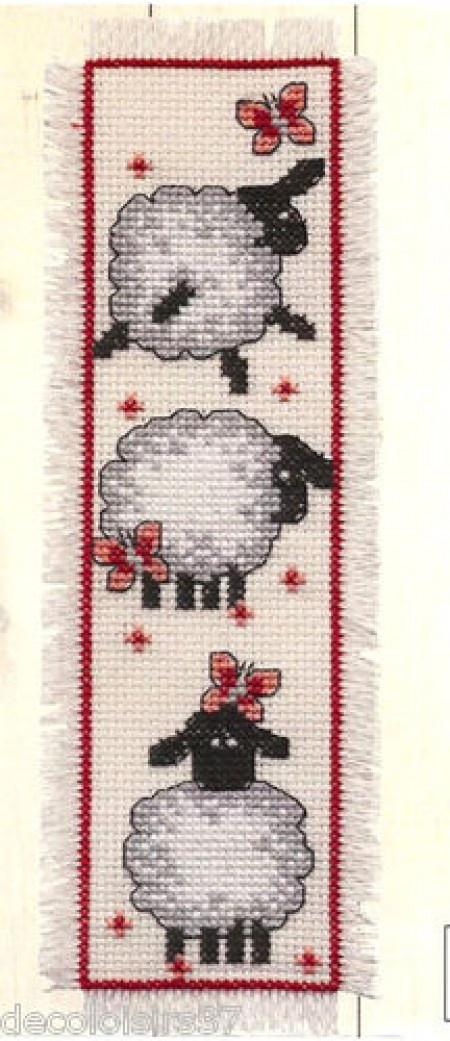 J'ai passé  ma commande de Permin Kit Point de Croix Compté Marque-Page Moutons-Bookmark Sheeps sur Lish, € 6,90