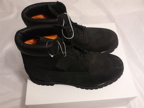 black timberland leather boots