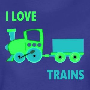 I Love Trains - Women's Premium T-Shirt