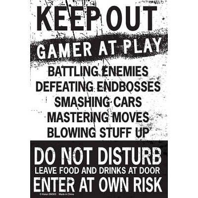Keep Out R At Play Tin Sign