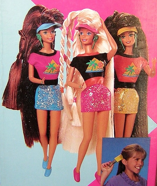 like, OMG, Glitter Hair Barbie from 1993.  I totally expected my body to turn out looking like this.  So far, I've been disappointed.