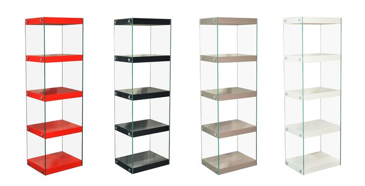 Moda Shelving Unit Large Moda Shelving Unit is a stylish mix of mdf high gloss wooden shelves accompanied by UKBS Standard Tempered Glass and Chrome Fixings. Learn more http://www.ebay.co.uk/itm/272231613491