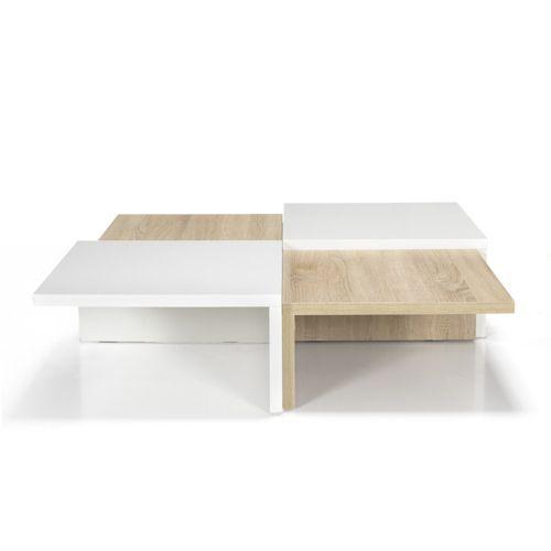 Table basse carrée design scandinave - Checker, idéal pour l'intérieur moderne et lumineux de votre maison Alliance Construction