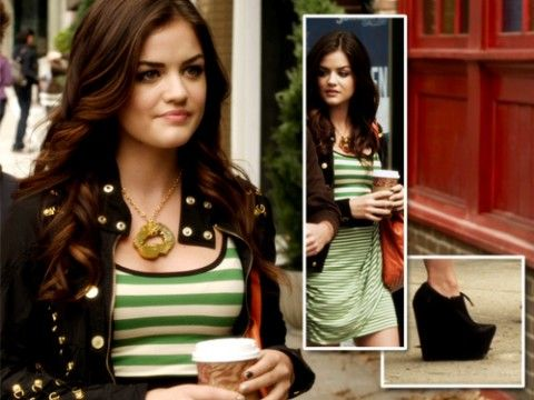 ... Aria Montgomery Fashion, Dress, Aria Montgomery Hairstyles, Hair Color