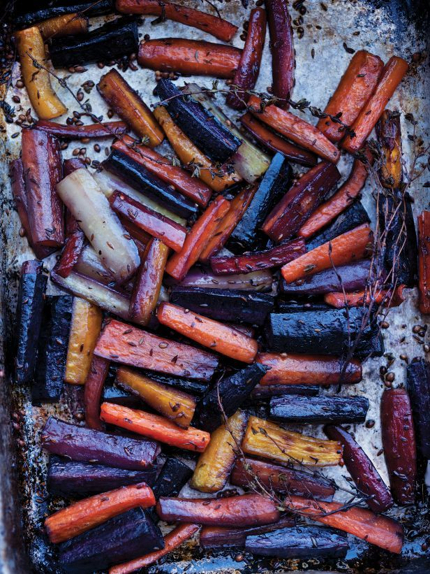 Honey-Roasted Carrots with Tahini